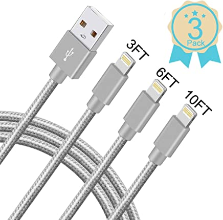 iPhone Charger,MFi Certified Lightning Cable,3 Pack...