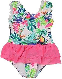 6995b7c3f6 Penelope Mack Little Girls Multi Color Tropical Print One Piece Swimsuit  4-6X