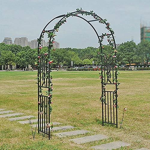 SYLJ Arco de Boda, Arco para Rosas, Arco para Enredaderas, Enrejado arqueado de Metal, decoración de Fiestas Jardín al Aire Libre Jardín Césped Patio Trasero