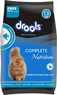 Drools Adult(+1 year) Dry Cat Food, Ocean Fish, 1.2kg (+20% Extra Free Inside)