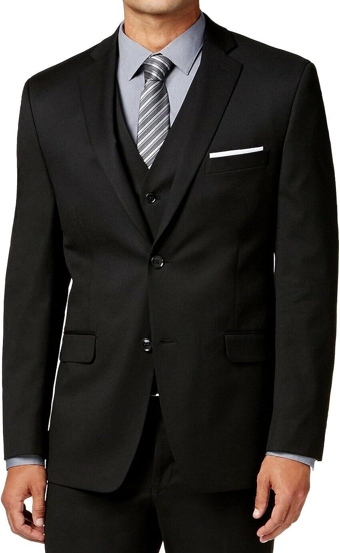 Alfani Suited for Travel Slim Fit Black Solid Two Button New Men's Sport Coat (40 Regular)