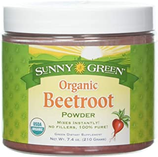 Sunny Green Organic Powder, Beetroot, 7.4 Ounce