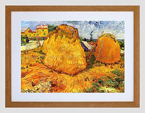 Wee Blue Coo Van Gogh Haystacks In Provence 1888 Lámina Enmarcada 12 x 16 Pulgadas