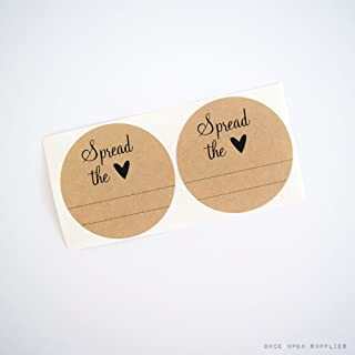 Spread the Love with Blank Lines Round Stickers for Mason Jars by Once Upon Supplies, Homemade Gift Labels, 2 Inches Size,...