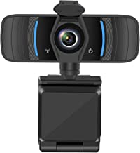 Castries 1080P Webcam with Privacy Cover, HD Webcam with Microphone with Noise Reduction, Wide Angel Laptop and Desktop US...