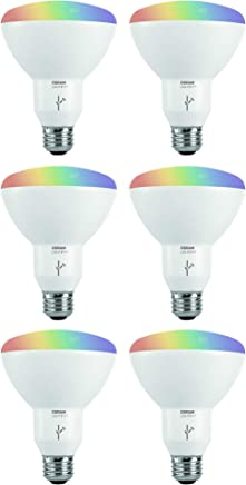 Sylvania Osram Lightify Smart Home 65W BR30 White/Color LED Light Bulb (2 Pack