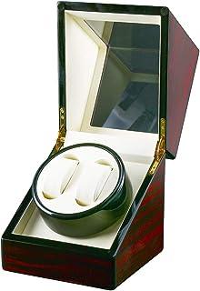 ワインディングマシーン(2本巻き) ウォッチワインダー 自動巻き時計ワインディングマシーン 日本製 マブチモーター 設計 腕時計自動巻き上げ機 男女の腕時計は全部使えます 2021年アップグレード ピアノ鏡面仕上ブラック (木目調)
