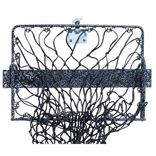 Hay Hoops Wall Hay Feeder with Net Black