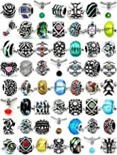SEXY SPARKLES Ten (10) of Assorted Charm Beads Charms Spacers for Snake Chain Charm Bracelet