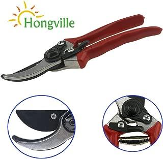 HONGVILLE 8'' Pruning Shears-Pruning Snip,Tree Trimmer, Premium Titanium Garden Shears, Hand Pruner,Clippers for The Garden. (Red)