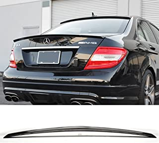 4DR Euro Style ABS Rear Spoiler Deck Lip Wing Bodykits by IKON MOTORSPORTS 2009 2010 2011 2012 2013 Trunk Spoiler Compatible With 2008-2014 Mercedes Benz W22004 C Class Sedan