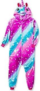 Onesie Kids Pajamas Panda Stitch Pijama Boys Girls Animals Flannel Pajama Funny Zzbiao (Color : Sky Horse, Size : 5)