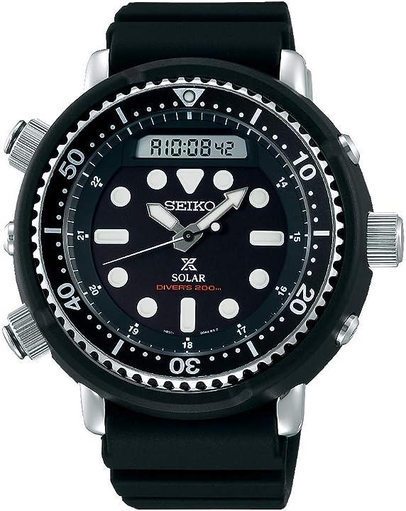 Orologio seiko analogico-digitale quarzo uomini con cinturino in silicone snj025p1