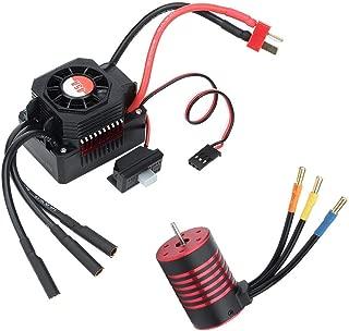 Dilwe Brushless Motor ESC Kits, 45A Dust-Proof Waterproof ESC Brushless 3300KV Motor for RC Model Lover