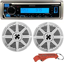 $149 » Kenwood Marine Digital Media Receiver (with Alexa and Bluetooth) Bundle with BOSS Audio Waterproof Boat Speakers and Car T...