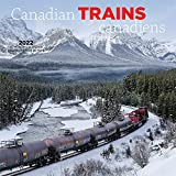 Canadian Trains 2022 12 x 12 Inch Monthly Square Wall Calendar by Wyman Publishing, Heavy Machinery Transportation