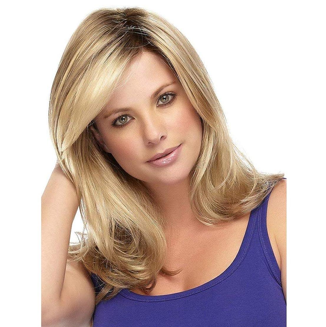 ポルノ過度にウイルスかつら女性の長い巻き毛の波状の金色の金髪ヘアピースとして女性のための本物の髪飾りdaliy