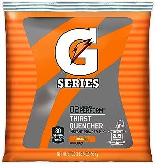Gatorade 03970 nstant Powder Packet, 21 oz, Orange, Standard (Pack of 32)