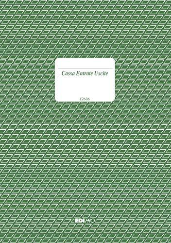 EDIPRO - E2686 - Registro cassa entrate/uscite 96 pagine f.to 24x17