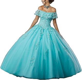 JAEDEN Vestido de Noche Mujer Vestido de Novia Vestidos de quinceañera Largo Encaje Tul