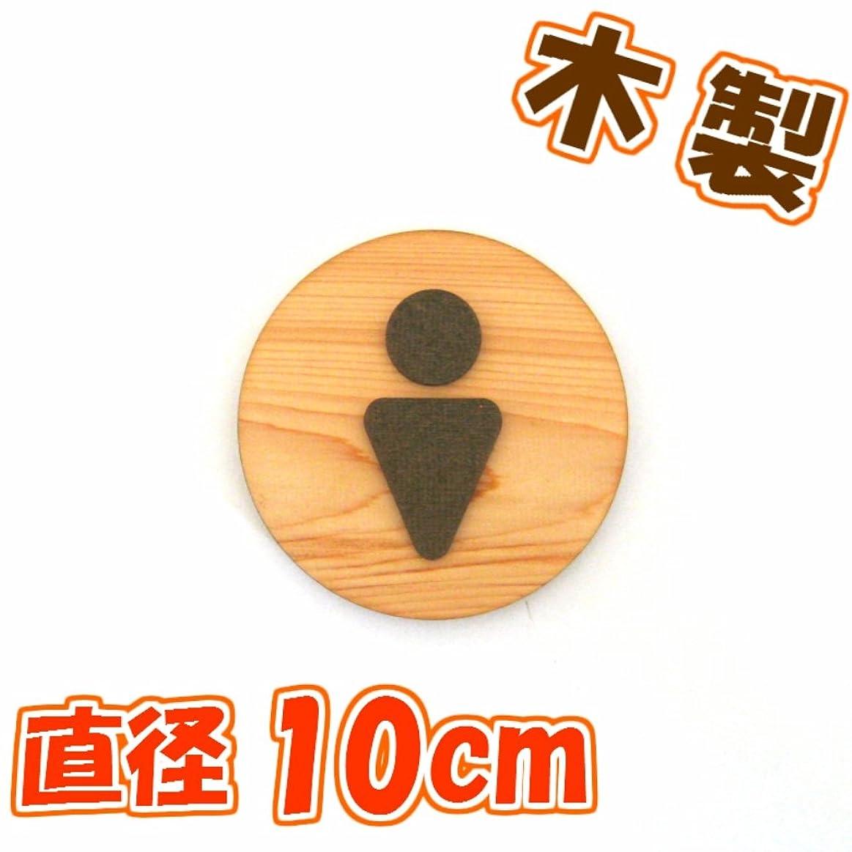 レパートリー半球傷跡木製凸凹丸型トイレプレート B 男 直径10センチ  A マークカラー?ブラウン