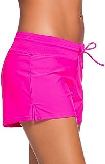 Aleumdr Women's Swimming Trunks Summer Bikini Bottoms Water Sports Swimming Trunks UV Protection Swimming Shorts Swimming Shorts