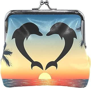 Mujeres Dolphin Love Broche Monedero Monedero Estuche Animal ...