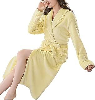 Women Warm Bathrobe Ladies Autumn Winter Fleece Dressing Gown Night Robes Housecoat