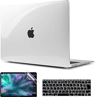 TwoL MacBook 12 インチ ハードケース クリア、3セット高品質軽量クリスタルシェル Retina 12 エアー対応 シェルカバーキーボードカバー 液晶保護フィルム