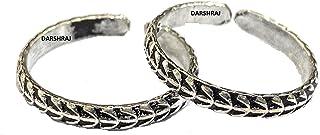 DARSHRAJ JEWELLERS 925 Sterling Silver Chandi Black Toe Ring Silver For Women (2.5gm)