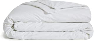 Brooklinen Luxe Duvet Cover with Extra-Long Corner Ties and Button Closure – 480 Thread Count Cotton Sateen – 100 Percent Long-Staple Cotton – Oeko-TEX Certified – Smoke Stripe – King/Cali King