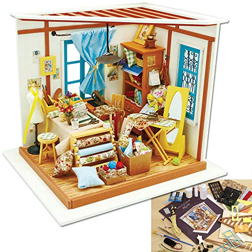 Bits and Pieces - Lisa's Tailor Shop Model Kit - Architectural 3D Model Kit for Adults - Miniature Building Set with Working Lights - Detailed, Colored Instructions