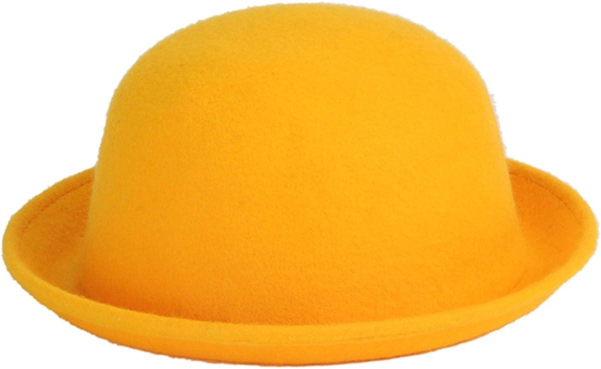Cozylkx Women Wool Round Bowler Hats Wool Fedora Hat