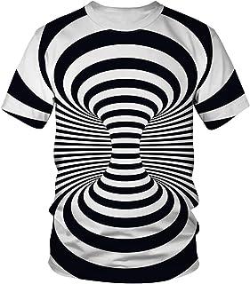 Momodani Unisex 3D Print Fashion Graphic Crewneck Short Sleeve T-Shirt Tees Tops for Men Women S-3XL