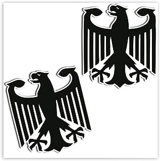 SkinoEu® 2 Stück Vinyl Aufkleber Autoaufkleber Deutschland