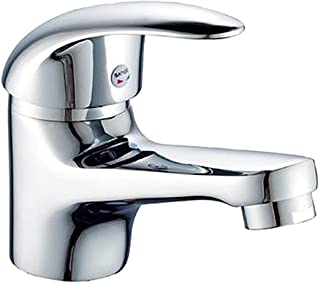 K3 洗面用 シングルレバー 混合水栓 トイレ 手洗い 手洗いボウル用 立水栓 洗面台 蛇口 水道 取り付けホース付き (混合水栓)
