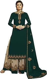 Comet Enterprise Women's Faux Georgette Sharara Salwar Suit (Free Size)