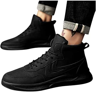 Men's High-Top Fashion Board Shoes Comfortable Korean Trend Wild Flat Non-Slip Shoes
