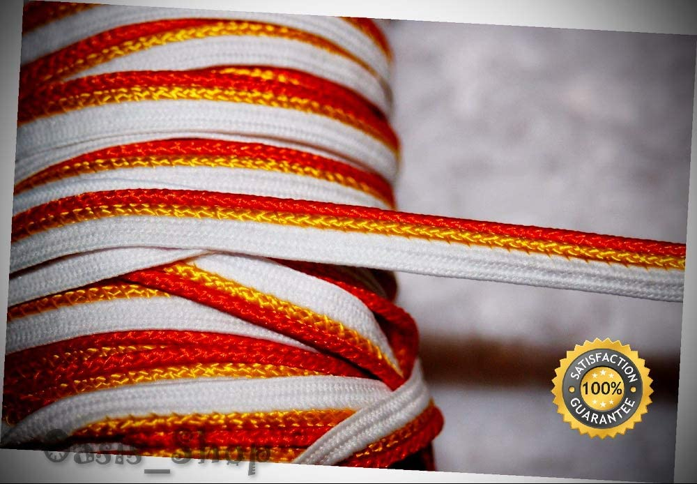 8 Yards Max 61% OFF White Orange Yellow Apron Lip Cord Piping Tri Upholstery Ranking TOP1