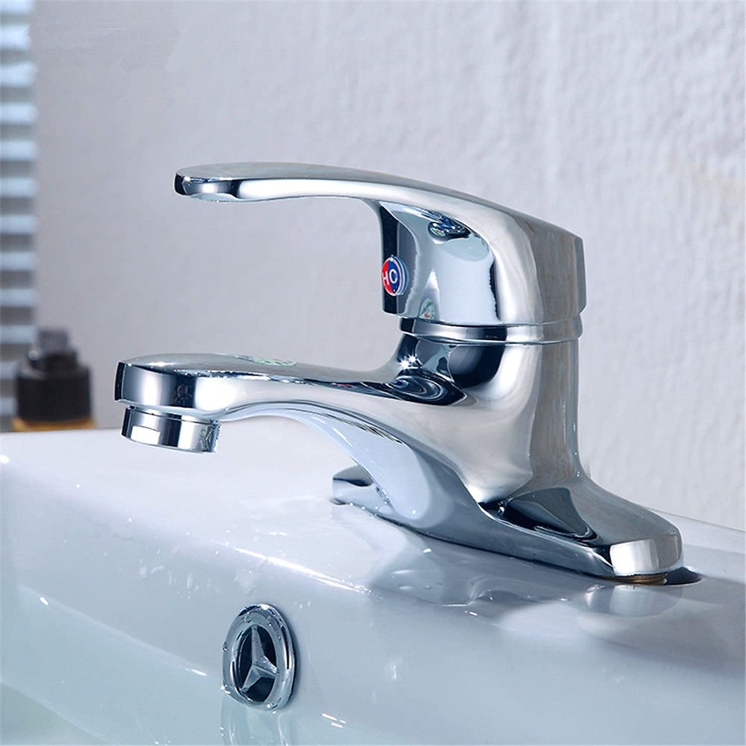 AQMMi Bathroom Sink Mixer Tap 2 Holes Hot and Cold Water Brass Taps for Bathroom Sink