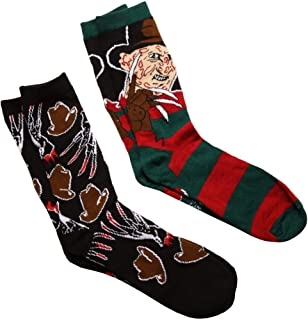 Nightmare on Elm Street Freddy/Hat & Gloves 2-pack Adult Crew Socks