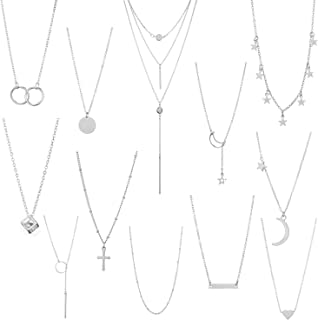 Layered Choker Necklaces for Women Girls Fashion Multilayer Chain Necklace Set Adjustable Bestie Gifts