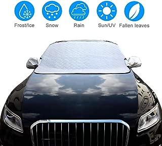 Staub EIS Gegen Schnee Frost omitium Frontscheibenabdeckung Sonne Windschutzscheibenabdeckung -215x135x155 cm Schwarz Autoscheibenabdeckung Magnet Fixierung Faltbare UV-Anti