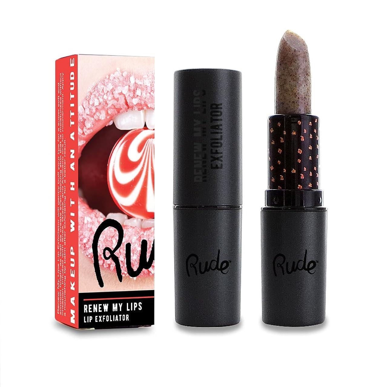 肺炎他の場所ぜいたく(3 Pack) RUDE Renew My Lips Lip Exfoliator - Vanilla (並行輸入品)