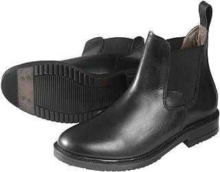 PFIFF 011499 - Botines de equitación de Piel auténtica, Unisex, Color Negro, Talla 35-45