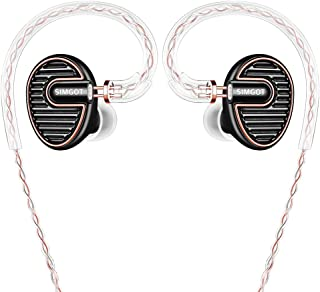 SIMGOT EN700 PRO High Fidelity in-Ear Monitor Headphones with Detachable Cable, Sound Stereo IEM Earphones with Dynamic Ba...