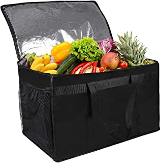 Qichebox Insulated Food Delivery Bag-Extra Large Thermal Lunch Bag Picnic Coolcer Bag-Catering Food Warmers for Camping Re...
