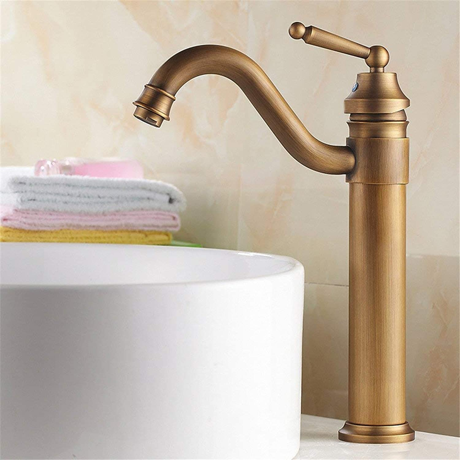 Oudan Simple black washbasin on the washbasin tap hot and cold high copper shower faucet A (color   A)