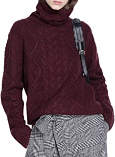 Ailaile Cashmere Wool Sweater Women's Twist Thick Turtleneck Pullover Female Loose Knitted Jumper
