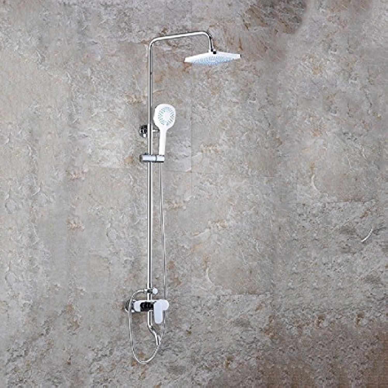 AQMMi Waschtischmischer Mischbatterie Für Badarmatur Dusche Set Messing Warmes Und Kaltes Wasser An Der Wand Montiert Armatur Badarmatur Mischbatterie Waschbeckenarmatur